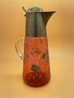 Gyönyörű festett üveg karaffa