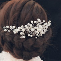 Esküvői, menyasszonyi, alkalmi hajdísz, ES-H-FÉ20