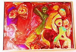 NÉMETH Miklós (1934-2012) -Aktok - üveges keretben