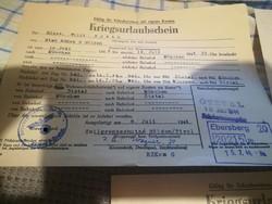 3 db. 2.vh-s német eltávozási engedély