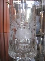 Szépséges üveg sörös korsó !