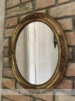 Antik ovális biedermeier tükör