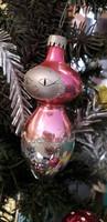 Karácsonyfadisz üveg,SOPRONI RÓZSASZÍN BABA