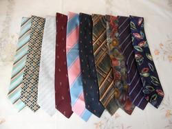 Retro, régi nyakkendő csomag ( 10 db.)