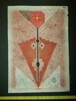 Sajó István (1896-1961), grafika, vegyes technika, méret jelezve!