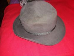 Antik Kalapgyári nyúlszőr férfi kalap szürke kalapszalaggal képek szerint