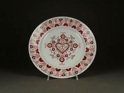 1F705 Hollóházi porcelán falitányér 24 cm