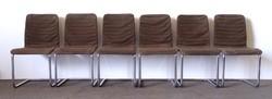 1F694 Antik bauhaus formatervezett króm vázas Breuer Marcell szék garnitúra