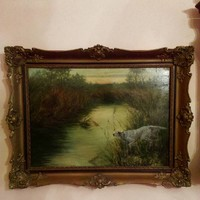 Hunter painting 1915