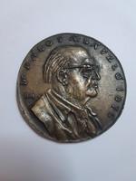 Jelzett Borsos Miklós: Pálos Á. László 1976 bronz emlékplakett 8,5 cm
