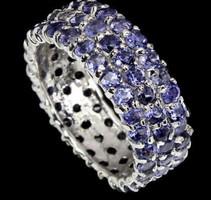 Valódi modern tanzanit  ezüstgyűrű 8 as ( 18) meret ¹
