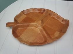 Retro bambusz osztott levélforma kínáló, tálca