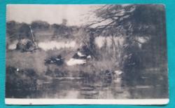 Régi művész képeslap,postatiszta
