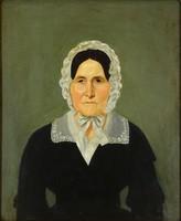 1F808 Magyar festő XIX. század : Női portré