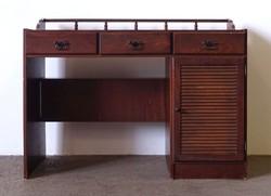 1F733 Szép állapotú retro barna íróasztal 1980 55 x 113 cm