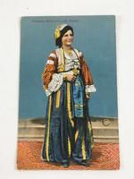 Antik, régi színes képeslap - bosnyák népviselet 1918. (Verlag Pacher & Kisic, Mostar No. 942/1916)