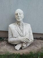 90x68x48 cm, kb.25 kg, gipsz szobor, üreges, kb.50 éves