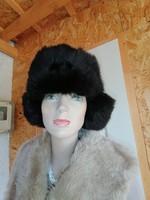 Szebbnél szebbek molett nálam garantált  orosz uniszex nyúl usanka sapka kalap 57 58 59 60 fejre