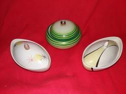 Gyönyörű Török János bonbonier gyűjtemény Kispest, és Budapest porcelánok 3 darab egyben