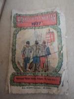 1927 Rokkantbarát naptár