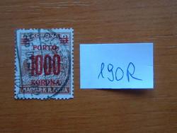 MAGYAR KIR. POSTA  1000 / 3 KORONA 1923 -1924 1922-es postai bélyeg, pirosra nyomtatva 190R
