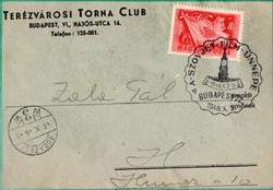 Terézvárosi Torna Club boríték front része A Szovjet Film ünnepe Bp 1948