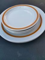 Alföldi narancssárga csíkos tányérok