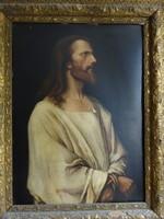 """Munkácsy Mihály """"Krisztus Pilátus előtt"""" képének olajlenyomata"""