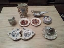 Antik és régi porcelán csomag.