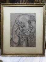 Ceruza rajz.Altmann szignóval.