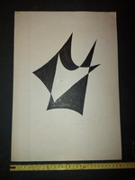 István Barta (1892-1976) graphics, felt, size indicated! Signed on both sides ...