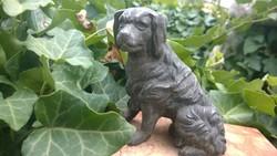 Hűség-Spániel kutya szobor-figura-márvány talp-levélnehezék, dekoráció