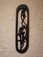 Faragott szobor /falidísz (83x22x2cm) eladó