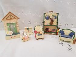 Gyűjtői miniatur babaház kiegèszìtők, játékszoba