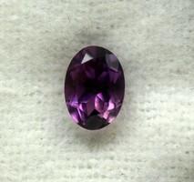 0,84 Ct természetes ovális lila ametiszt  csiszolt  valódi drágakő