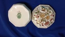 Zsolnay butterfly richly decorated porcelain bonbonier, jewelry box, box, box