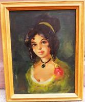 Osztrák vagy Nemet festő: Női portré