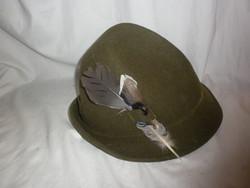 Régi zapf gyapjú vadász kalap