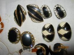 5 pár vintage klipsz fekete