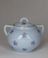 1F918 Régi Zsolnay virágmintás porcelán cukortartó bonbonier