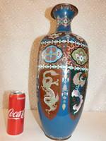 Japán ( Meidzsi kor ) cloisonne váza