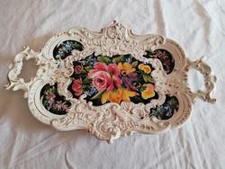 Italian majolica porcelain plate, tray, serving