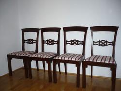 4 db restaurált antik szék új bieder huzattal eladó!