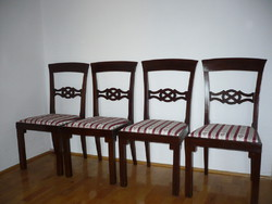 4 restored antique chairs with new Bieder covers for sale!