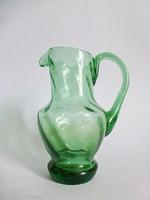 Zöld,csavart üveg kancsó,karaffa