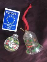 Két antik üveg karácsonyfadísz