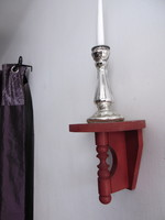 Watercolor red wooden wall bracket