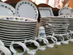 Hollóházi tableware for 12 people, coffee, compote + extras 81pcs