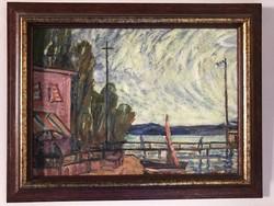 Bálint Rezső (Budapest, 1885 - Budapest, 1945)  Vitorláskikötő