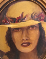 Lady with painting hat